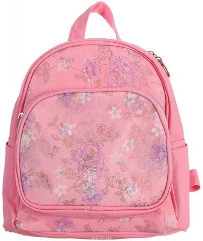 Рюкзак детский Цветы цвет розовый 1470171