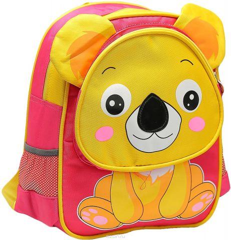 Рюкзак детский Мишка цвет розовый желтый 1661201