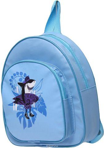 Рюкзак детский Акула цвет голубой 2741891