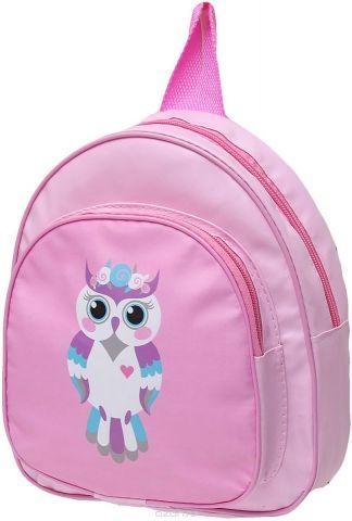 Рюкзак детский Сова цвет розовый 2741894