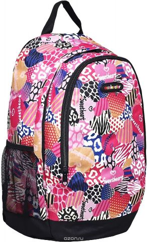 Рюкзак детский Сердца цвет розовый 1661078