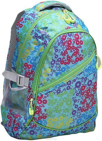 Рюкзак детский Круги цвет зеленый 1661143
