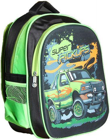 Рюкзак детский Авто цвет черный зеленый 2826168