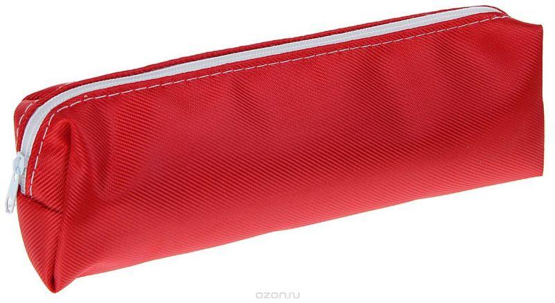 Calligrata Пенал школьный Однотонный цвет красный