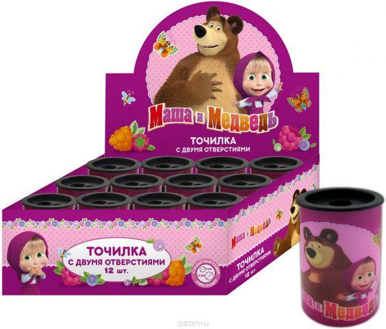 Маша и Медведь Точилка с контейнером цвет розовый 34179