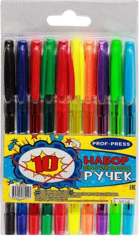 Prof Press Набор ручек шариковых №22 6 цветов