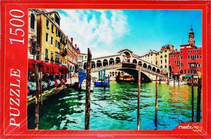 Рыжий Кот Пазл Венеция Гранд-Канал и мост Риальто