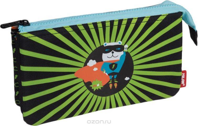 Milan Пенал-косметичка Super Heroes цвет черный светло-зеленый
