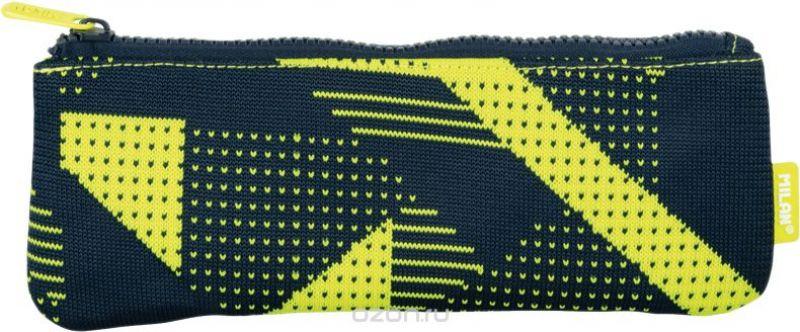 Milan Пенал-косметичка Knit цвет черный желтый