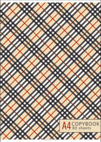 BG Тетрадь Trendy Print 80 листов в линейку цвет бежевый черный 17813
