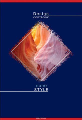 BG Тетрадь Eurodesign 80 листов в клетку цвет темно-синий 17901