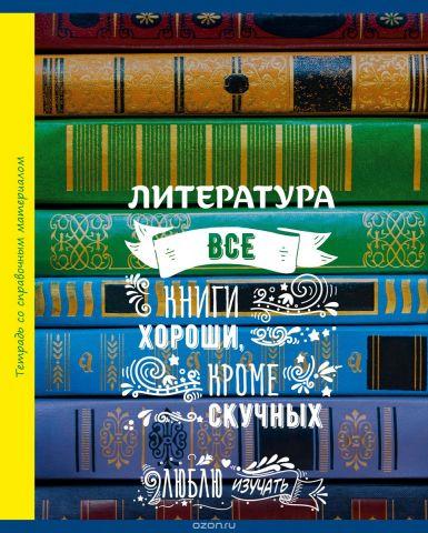 BG Тетрадь Люблю Изучать 48 листов в линейку цвет зеленый голубой 20531
