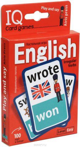 Айрис-пресс Обучающая игра Английские неправильные глаголы Уровень 1 Красный
