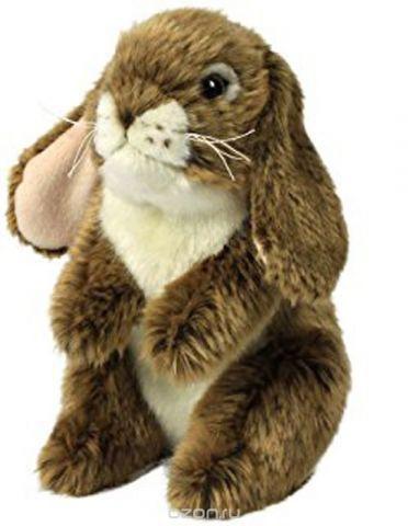 Anna Club Plush Мягкая игрушка Кролик стоит цвет коричневый