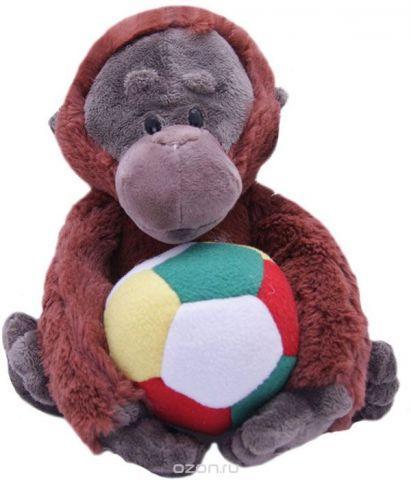 Magic Bear Toys Мягкая игрушка Горилла Игнат с мячом 22 см