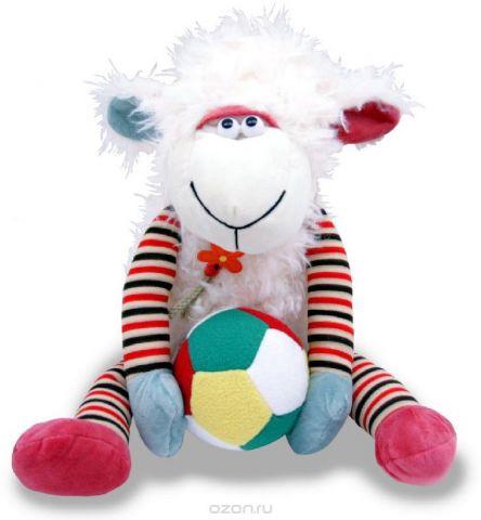 Magic Bear Toys Мягкая игрушка Овечка с мячом 30 см