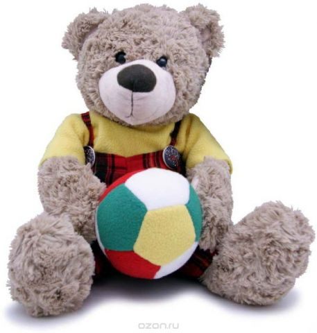 Magic Bear Toys Мягкая игрушка Мишка мальчик с мячом 28 см