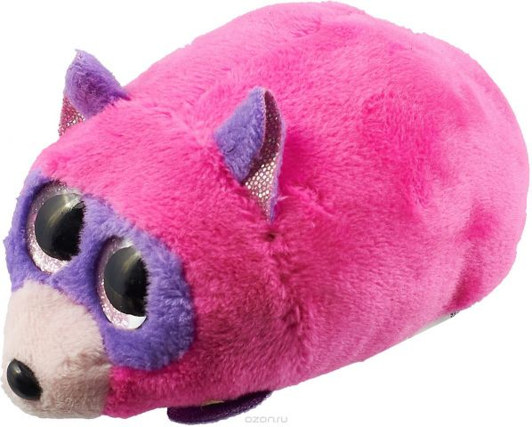 Teddy Мягкая игрушка енот 10 см цвет розовый