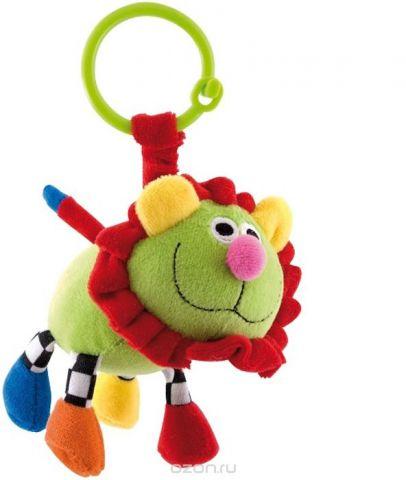 Canpol Babies Игрушка подвесная мягкая с погремушкой Сумасшедшие животные Лев цвет зеленый
