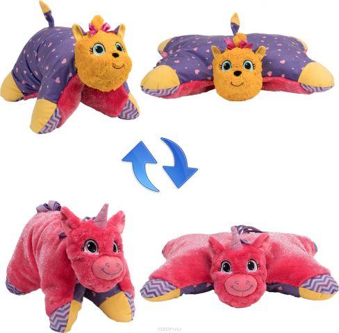 1TOY Мягкая игрушка Вывернушка 2в1 Лавандовый Единорог-Щенок Йорк 11 см