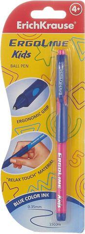 Erich Krause Ручка шариковая ErgoLine Kids цвет розовый синий41540