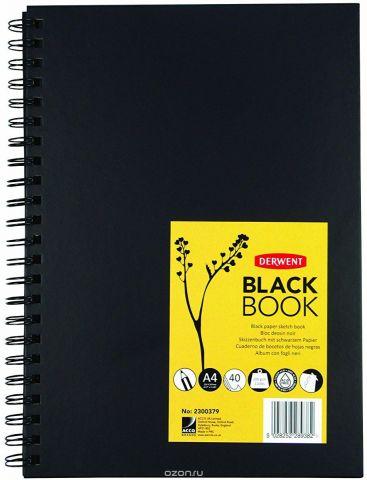 Derwent Альбом для зарисовок Black Book 40 листов формат A4