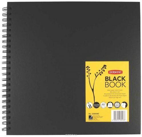 Derwent Альбом для зарисовок Black Book 40 листов формат 30 x 30 см