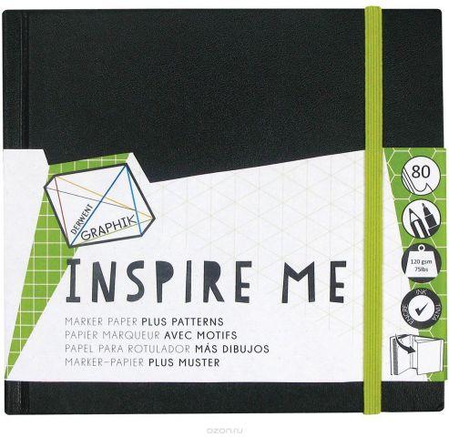 Derwent Скетчбук Inspire Me для маркера 80 листов 14 x 14 см