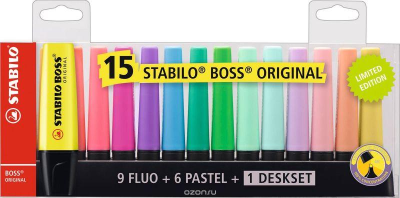 STABILO Набор текстовыделителей Boss Original настольный 15 цветов