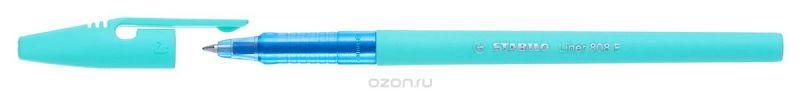 STABILO Ручка шариковая Liner Pastel 808 f синяя, цвет корпуса бирюзовый