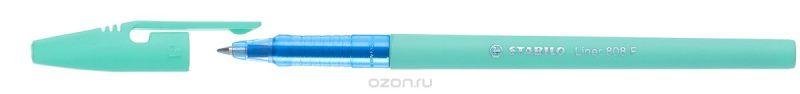 STABILO Ручка шариковая Liner Pastel 808 f синяя, цвет корпуса мятный