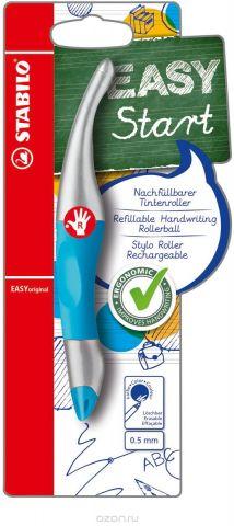 STABILO Роллер Easyoriginal Metallic для правшей, цвет корпуса неоновый синий