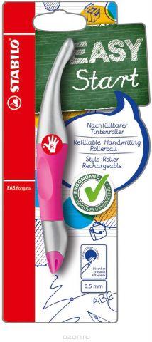 STABILO Роллер Easyoriginal Metallic для правшей, цвет корпуса неоновый розовый