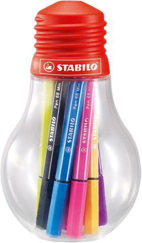 STABILO Набор фломастеров Pen 68 Mini 12 цветов 668/12-061