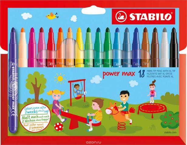 STABILO Набор фломастеров Power Max 18 цветов