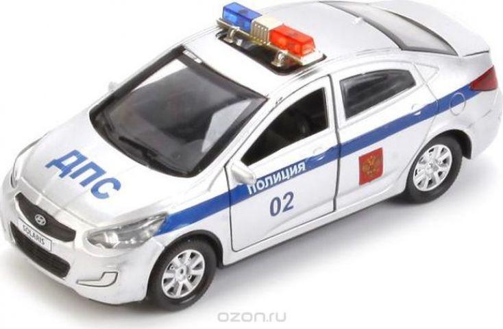 ТехноПарк Машинка инерционная Hyundai Solaris Полиция
