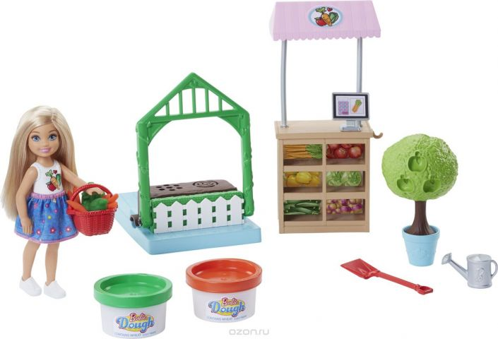 Barbie Игровой набор с куклой Овощной сад Челси