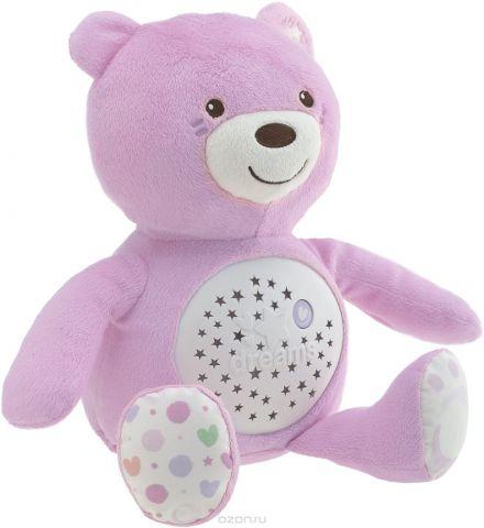 Chicco Развивающая игрушка Мишка цвет розовый