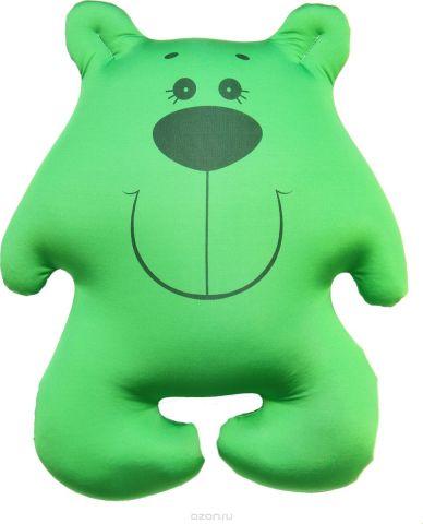 Штучки, к которым тянутся ручки Подушка-игрушка антистрессовая Мишки цвет зеленый