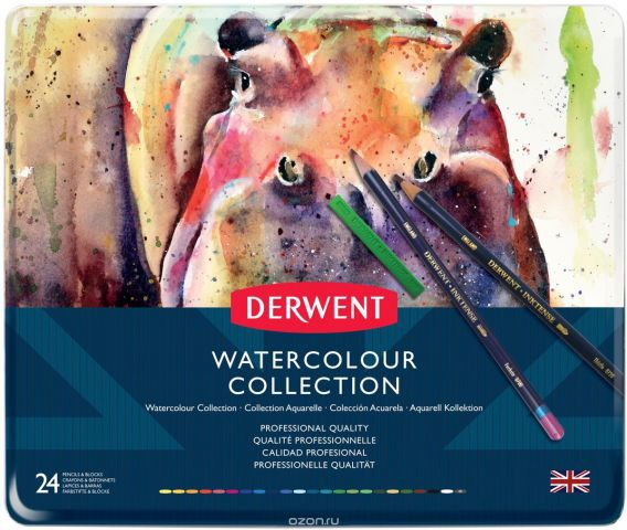 Derwent Набор карандашей Watercolour Collection 24 цвета