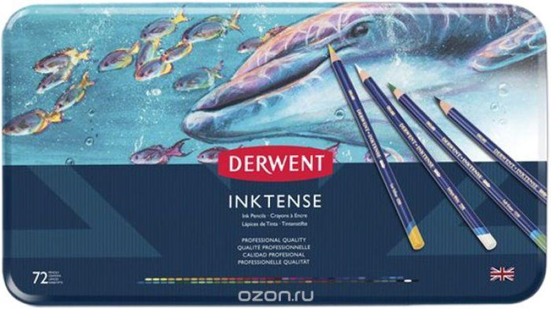 Derwent Набор акварельных карандашей Inktense 72 цвета 2301843