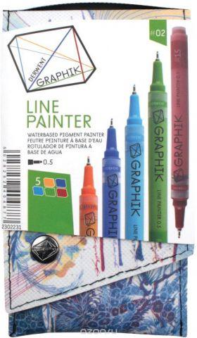 Derwent Набор капиллярных ручек Graphik Line Painter №2 5 шт