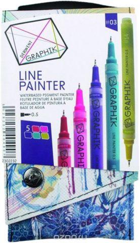 Derwent Набор капиллярных ручек Graphik Line Painter №3 5 шт