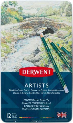 Derwent Набор цветных карандашей Artists 12 цветов
