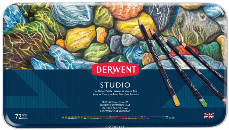 Derwent Набор цветных карандашей Studio 72 цвета 32201