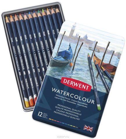 Derwent Набор акварельных карандашей Watercolour 12 цветов