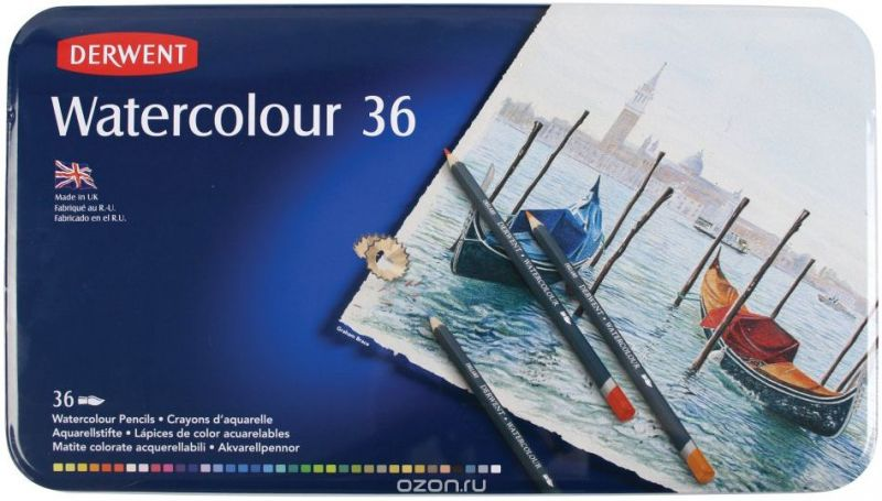 Derwent Набор акварельных карандашей Watercolour 36 цветов
