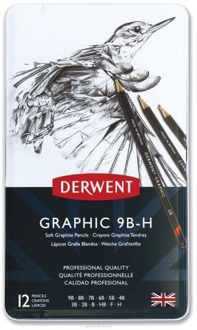 Derwent Набор чернографитных карандашей Graphic Soft 12 шт