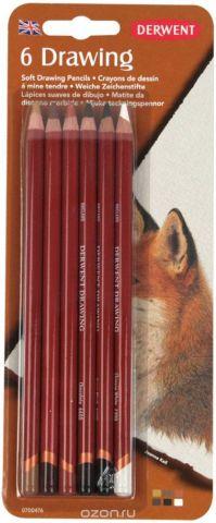 Derwent Набор цветных карандашей Drawing 6 цветов 0700476