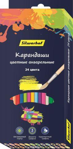 Silwerhof Набор цветных акварельных карандашей 2B 24 шт 134213-24